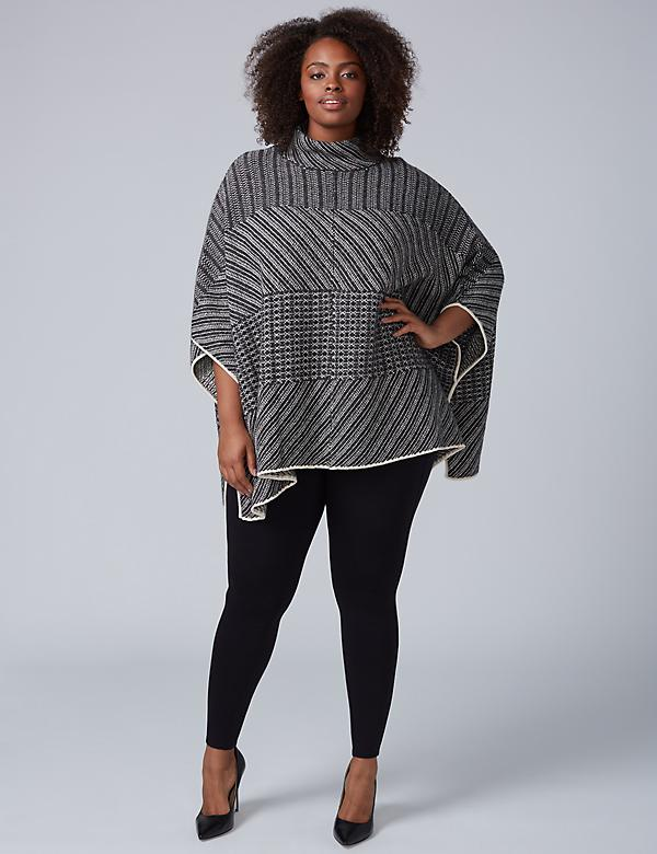 Patterned Oversized Poncho