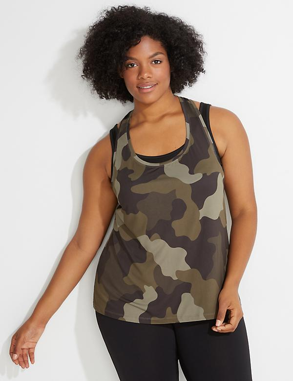 Wicking Camo Layered Tank