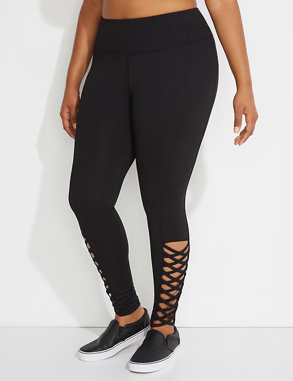 Wicking Active Legging with Lattice Detail