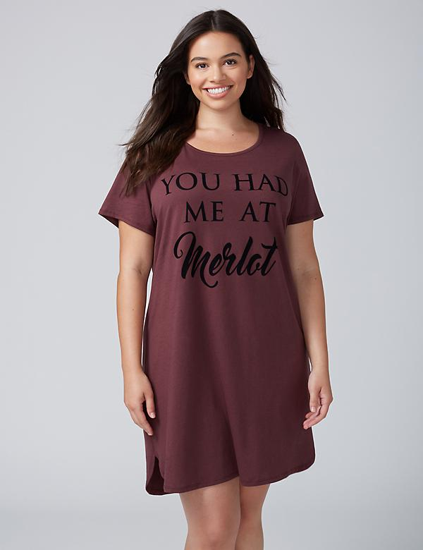 You Had Me At Merlot Graphic Sleepshirt