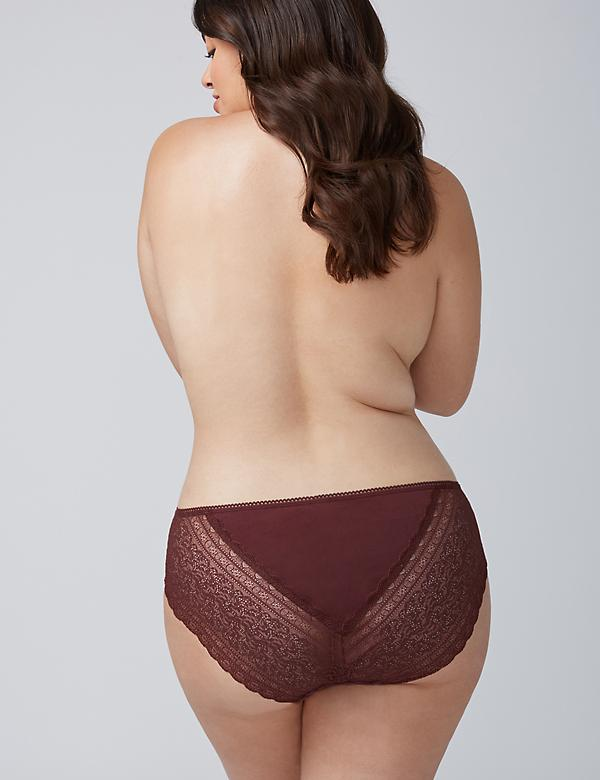 Cotton Hipster Panty with Lace Back