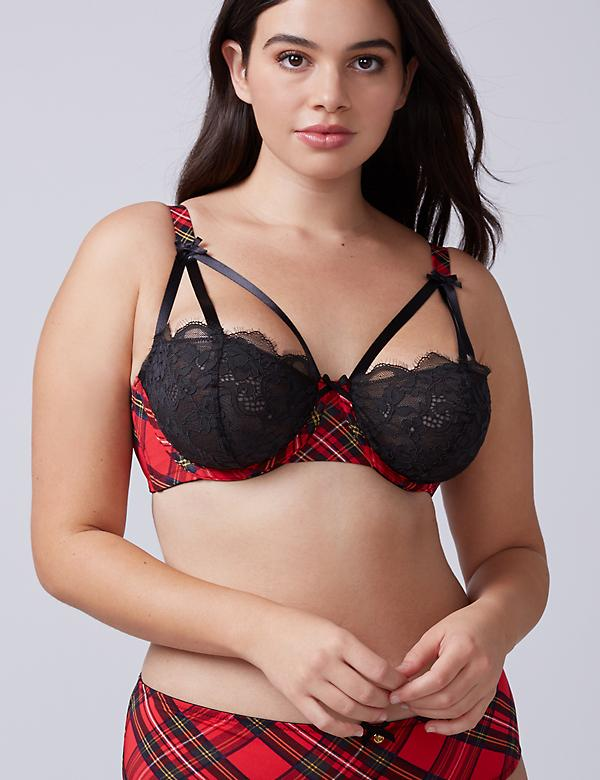 Tartan Plaid Unlined Balconette Bra