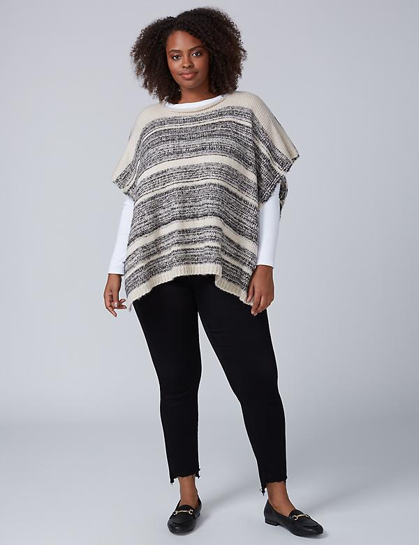 Short Knit Poncho