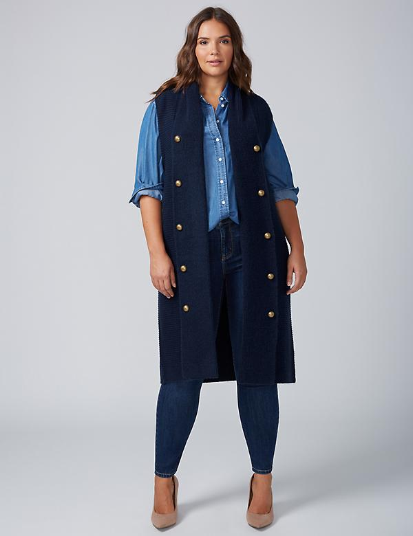 Button-Front Duster Vest