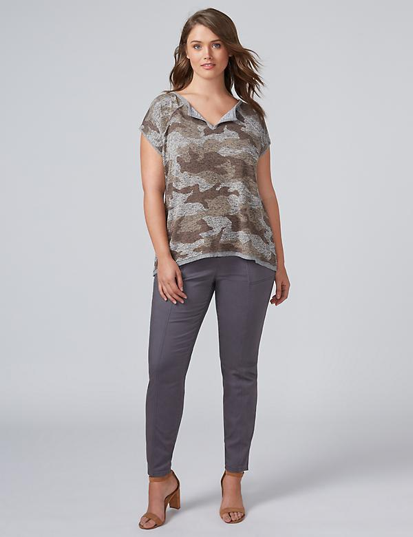 High-Low Camo Top