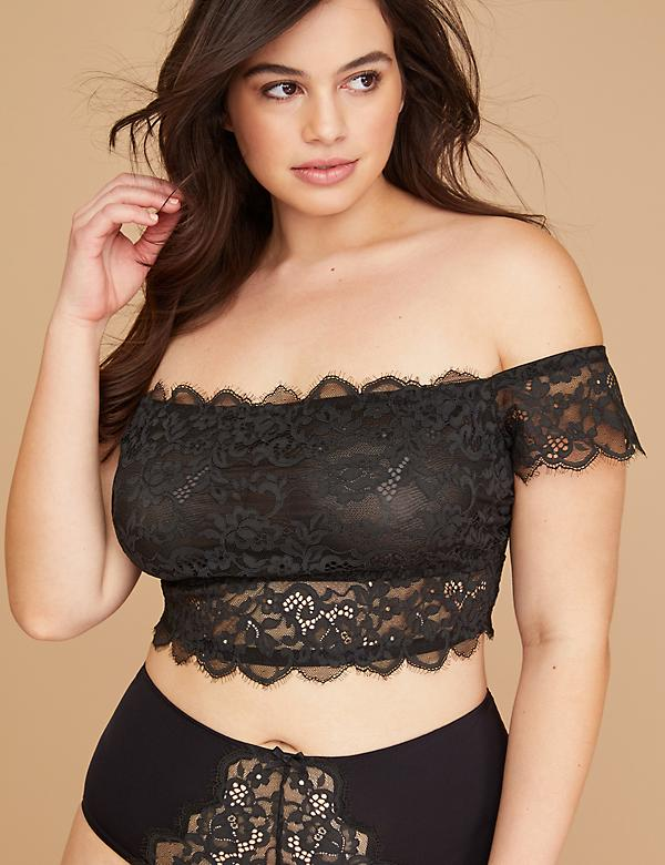 Lace Unlined Bandeau Bra Top
