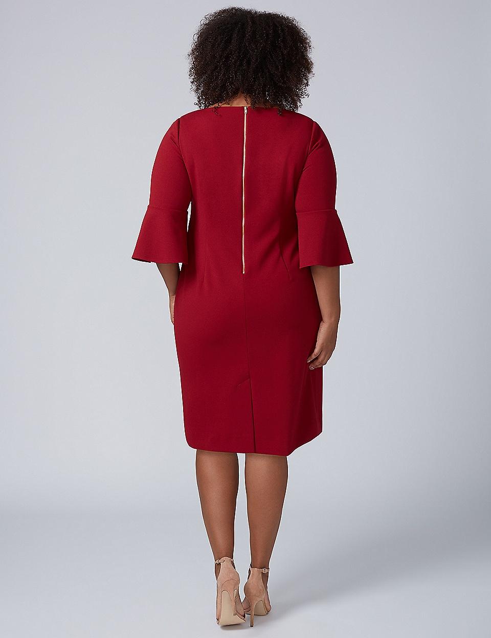 Plus size dresses fit and flare t shirt party dresses lane bell sleeve scuba sheath dress ombrellifo Choice Image