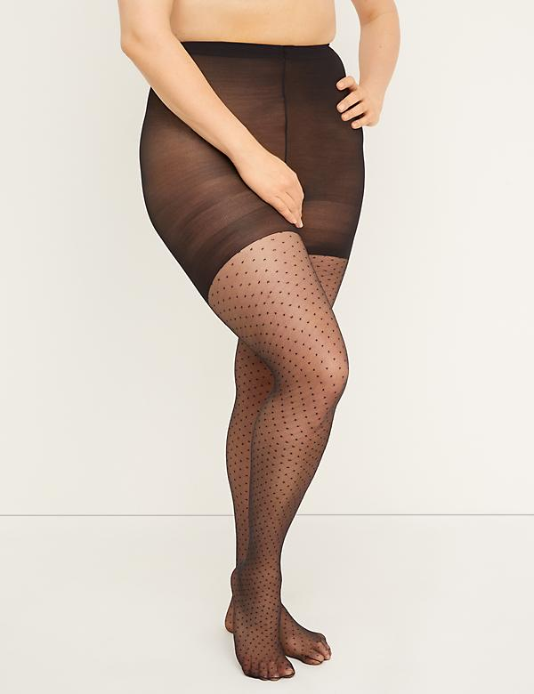Smoothing Tights - Diamond Dot