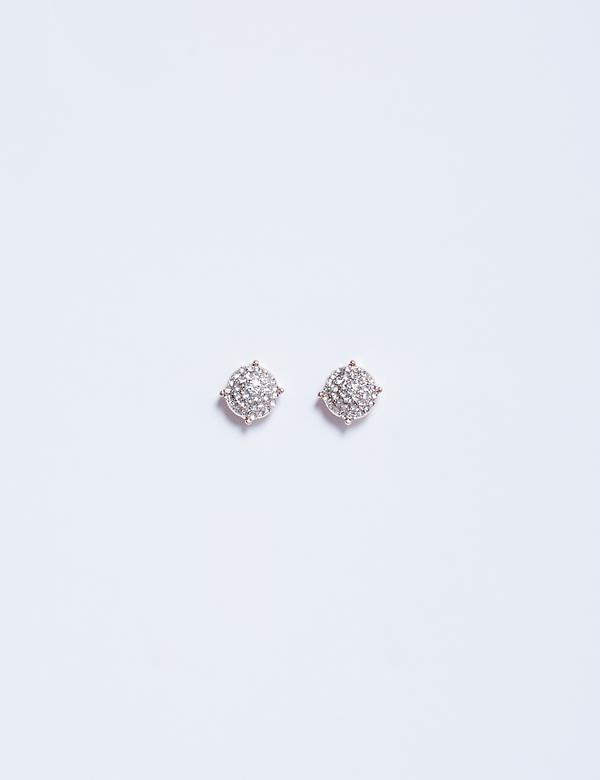 All-Over Pave Stud Earrings