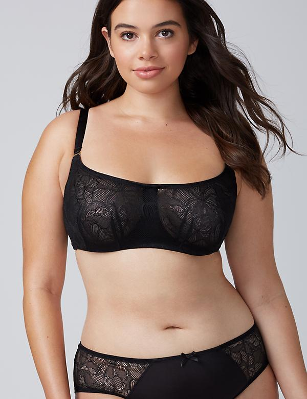 Lace Scoop-Neck Unlined Bandeau Bra