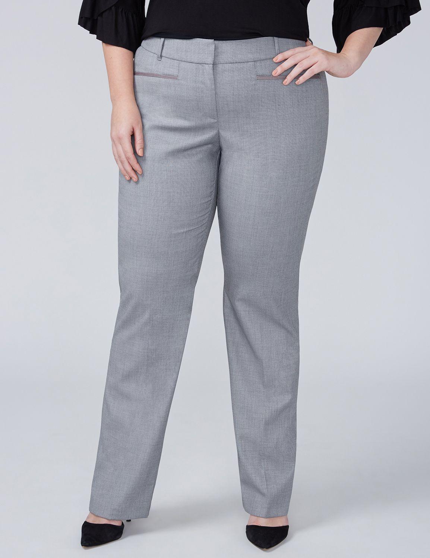 Petite Allie Tailored Stretch Straight Leg Pant - Gray