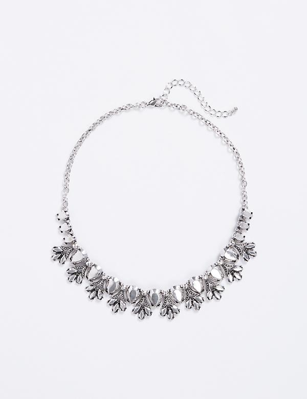 Short Metal Statement Necklace