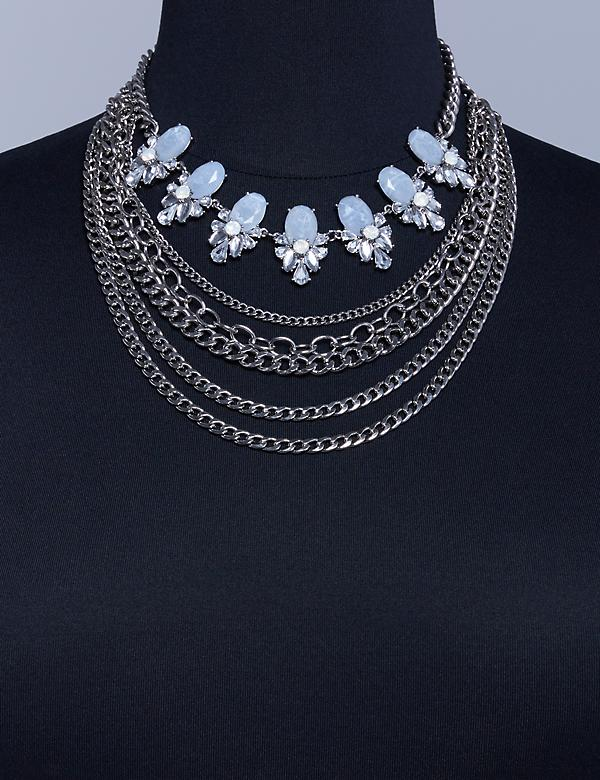 Convertible Chain Statement Necklace