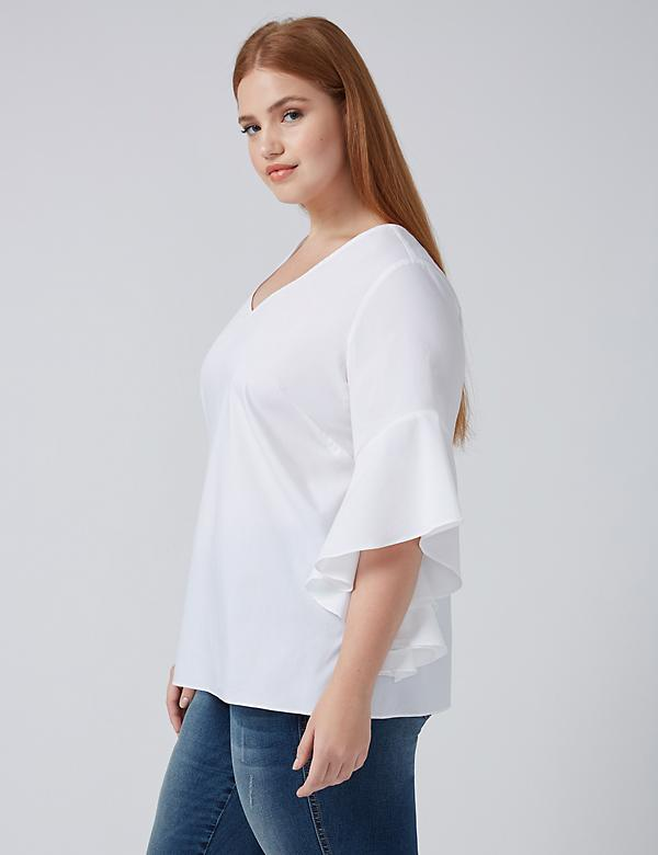 Fast Lane Ruffle-Sleeve Top