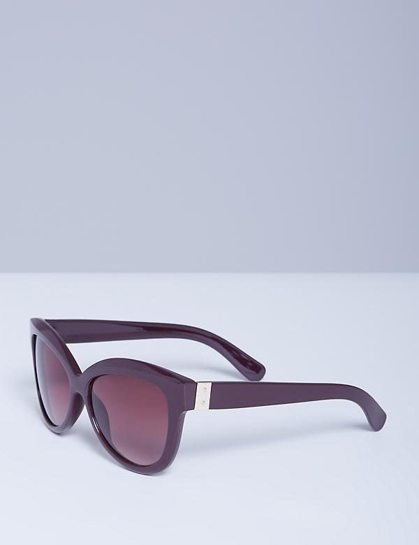 Bordeaux Sunglasses with Goldtone Detail