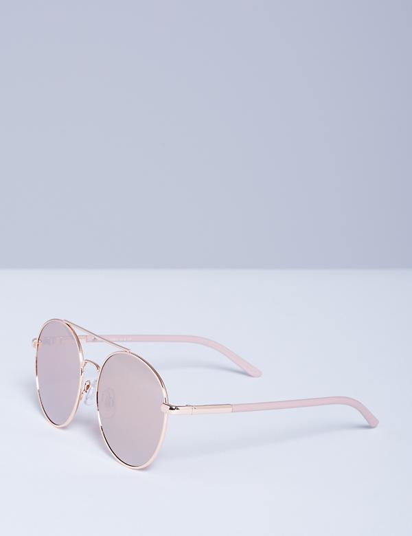 Round Rose Gold Sunglasses