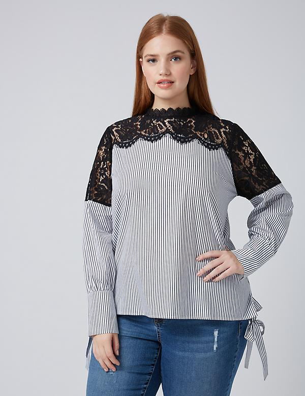 Fast Lane Striped Top with Lace