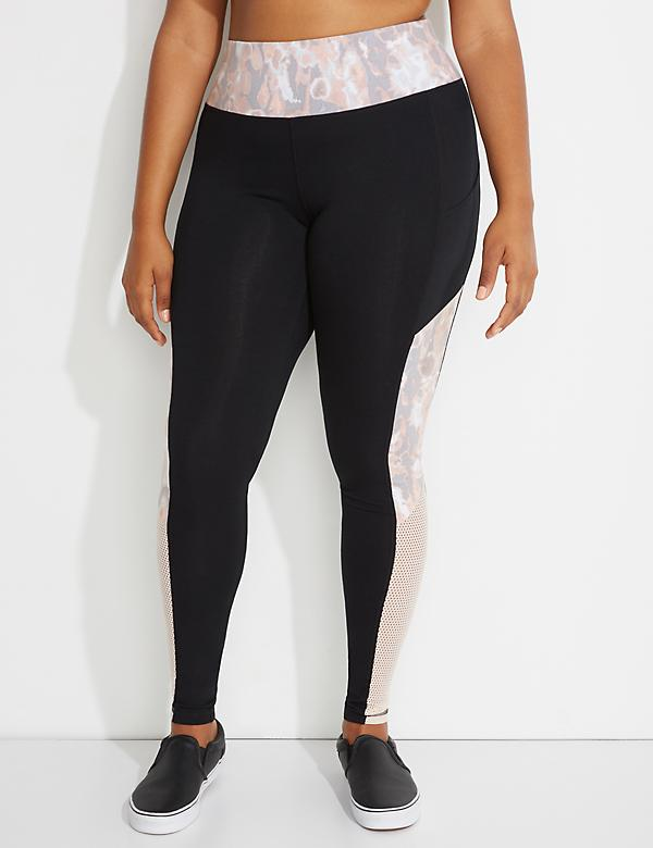 Signature Stretch Active Legging with Mesh Splicing
