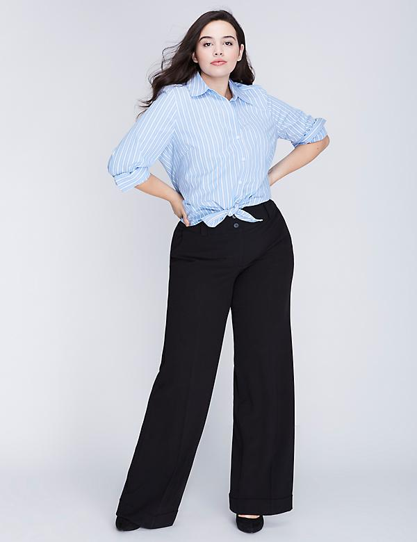 Lena Tailored Stretch Wide Leg Pant