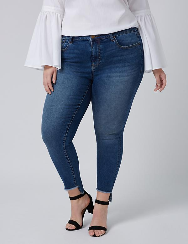 Fast Lane Straight Ankle Jean with Step Hem