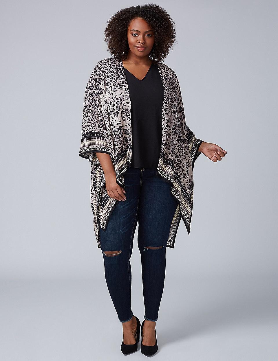 Leopard Print Kimono | Lane Bryant