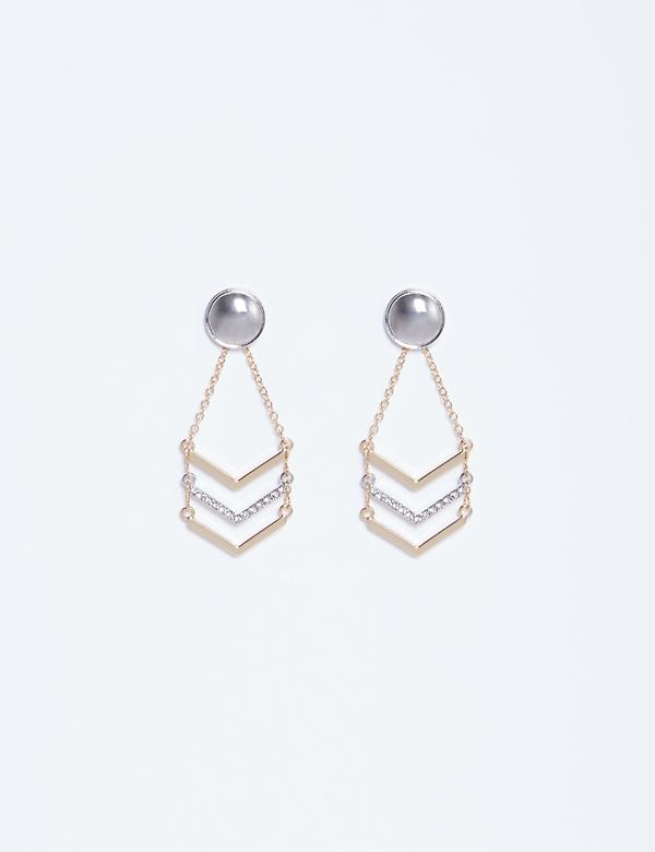 Chevron Chain Drop Earrings