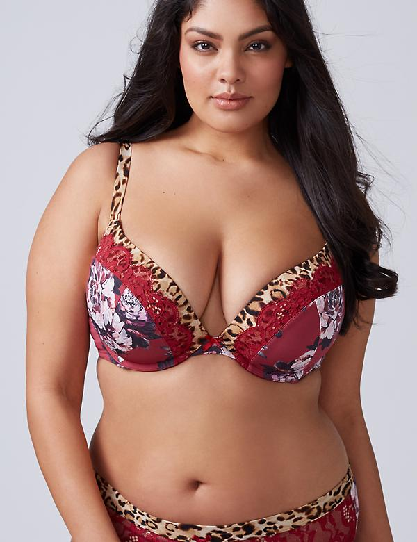 Floral & Animal Print Boost Plunge Bra