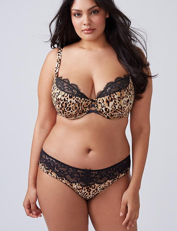 Animal Print Lace-Back Hipster Panty