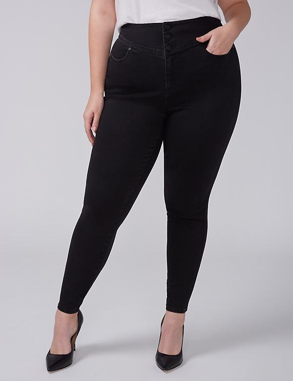 High Rise Super Stretch Skinny Jean – Black