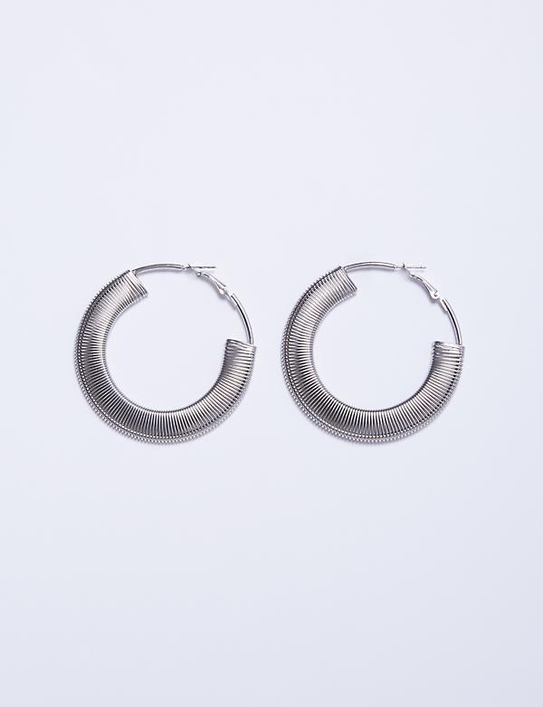 Spring-Wrapped Hoop Earrings