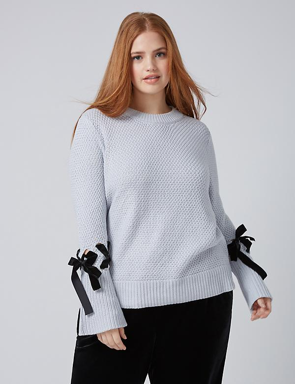 Fast Lane Sweater with Velvet Ribbon