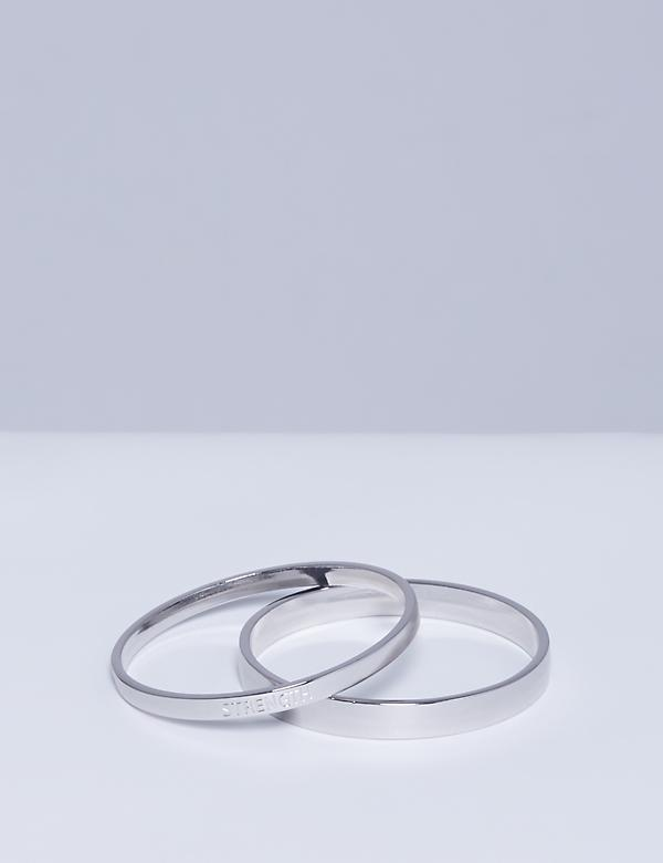 Inspirational Metal Bangle Set