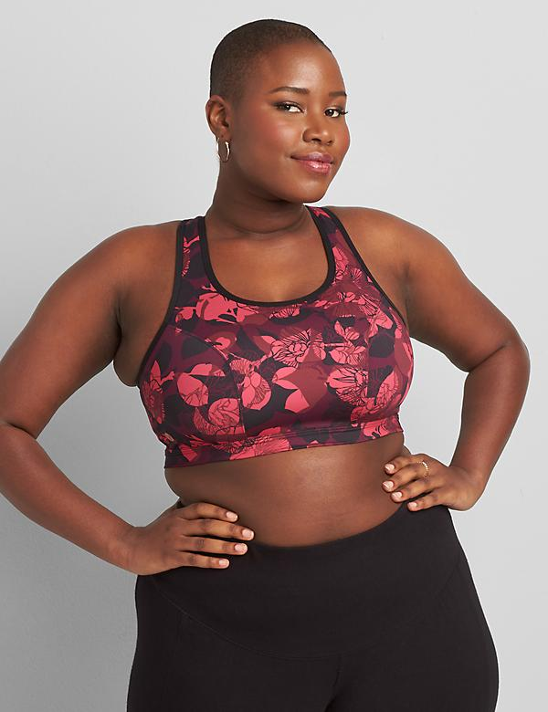 LIVI Low-Impact No-Wire Sport Bra With Wicking - Keyhole Racerback