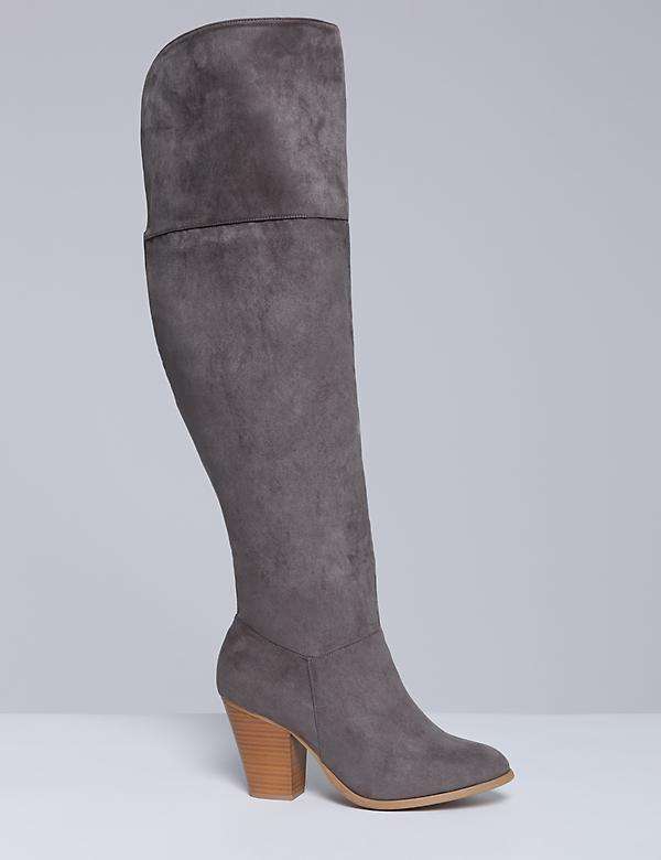 Over-the-Knee Boot with Block Heel