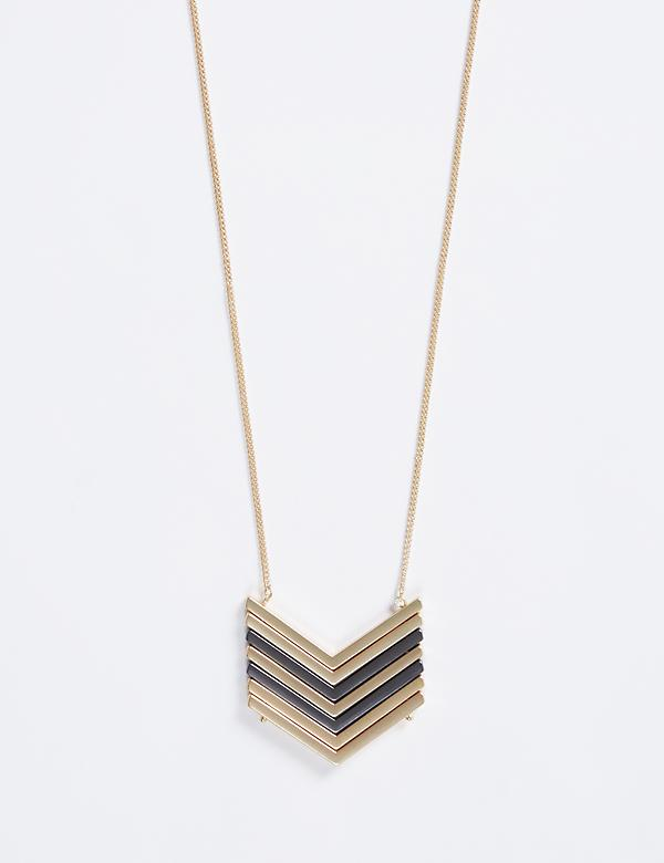 Long Chevron Pendant Necklace