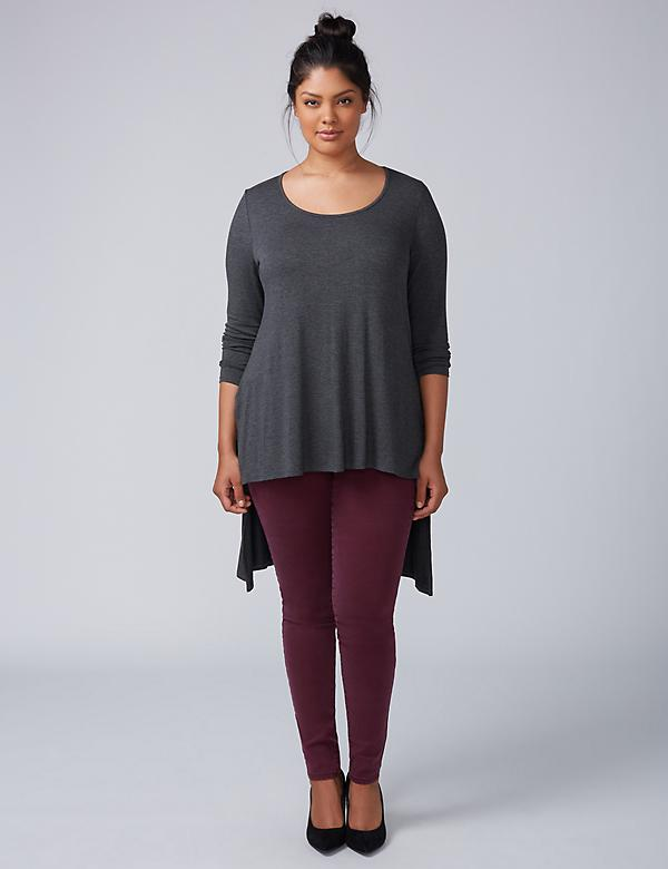 High-Low Scoop-Neck Tunic