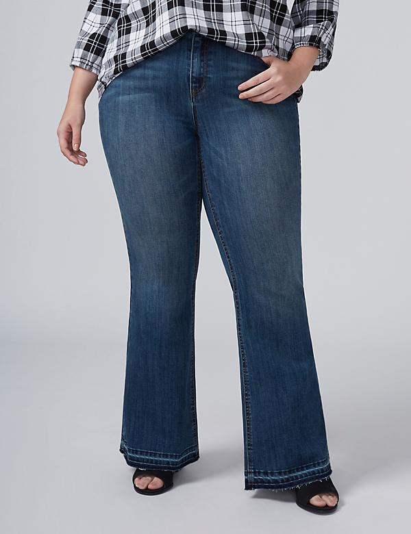Fast Lane Released-Hem Flare Jean