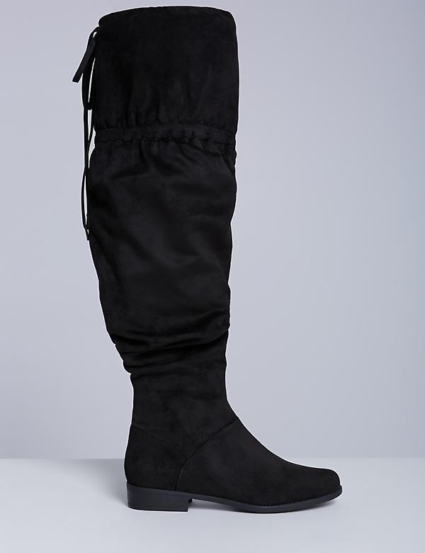 Flat Scrunch Over-the-Knee Boot