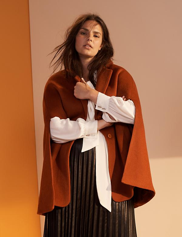 Wool Blend Tailored Cape by Prabal Gurung