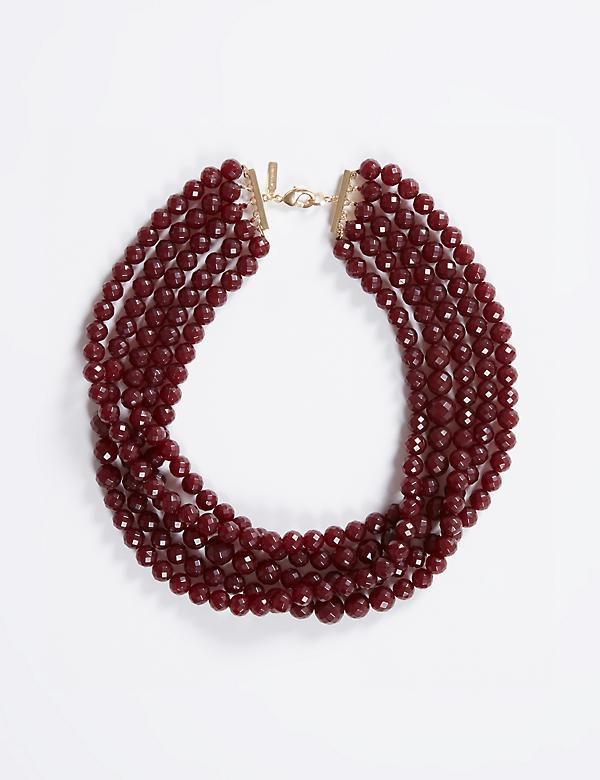 Short Multi-Row Beaded Necklace