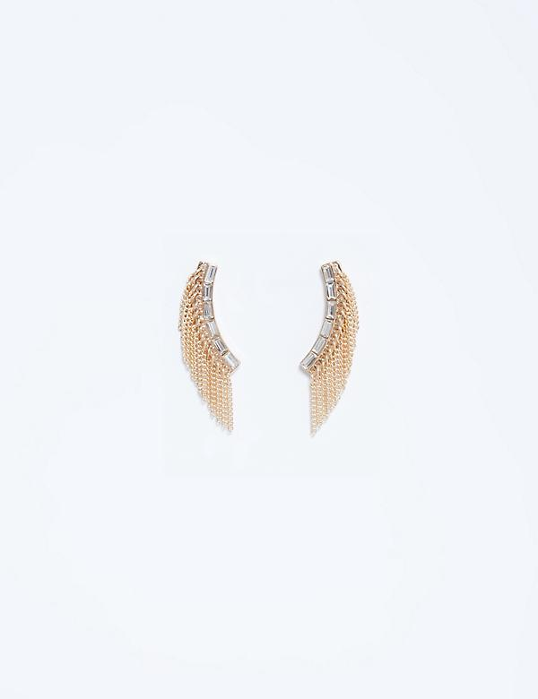 Fringe CZ Crawler Earrings