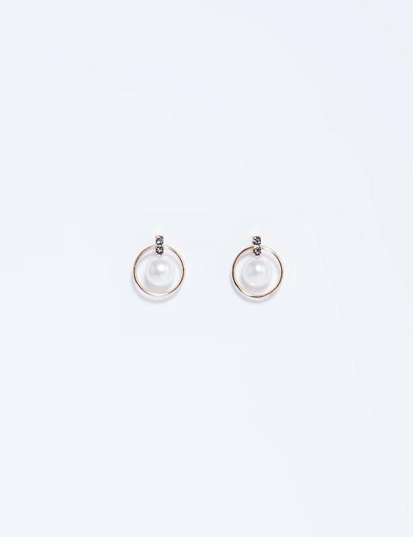 Orbital Pearl Stud Earrings