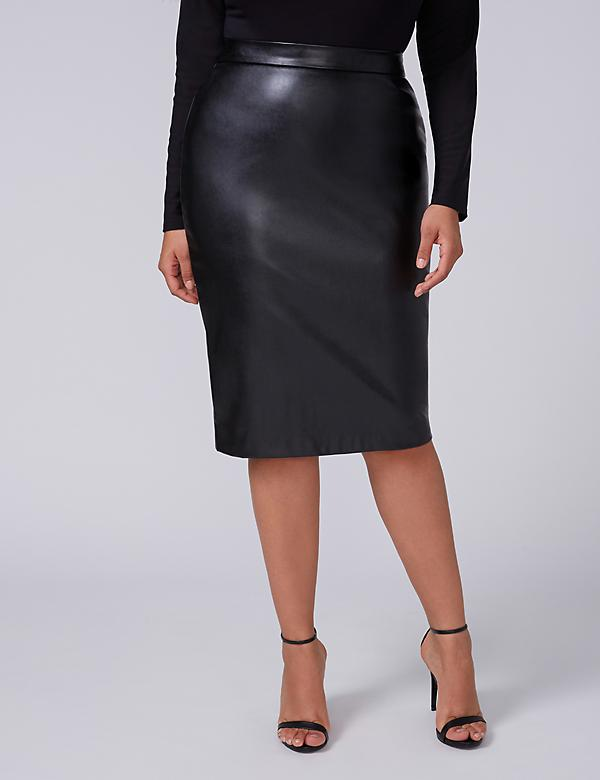 Fast Lane Faux Leather Pencil Skirt