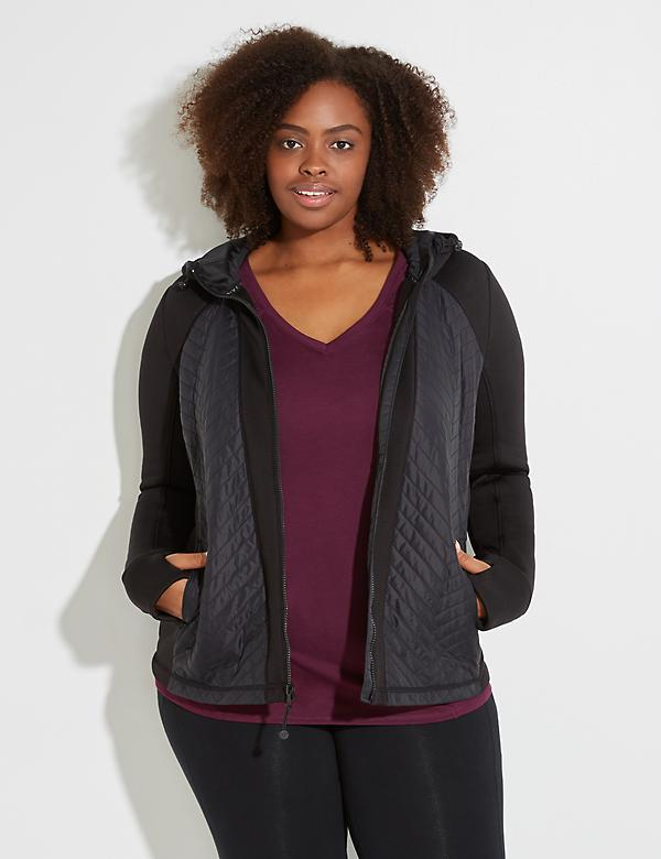 Active Quilted Puff Jacket with Hood