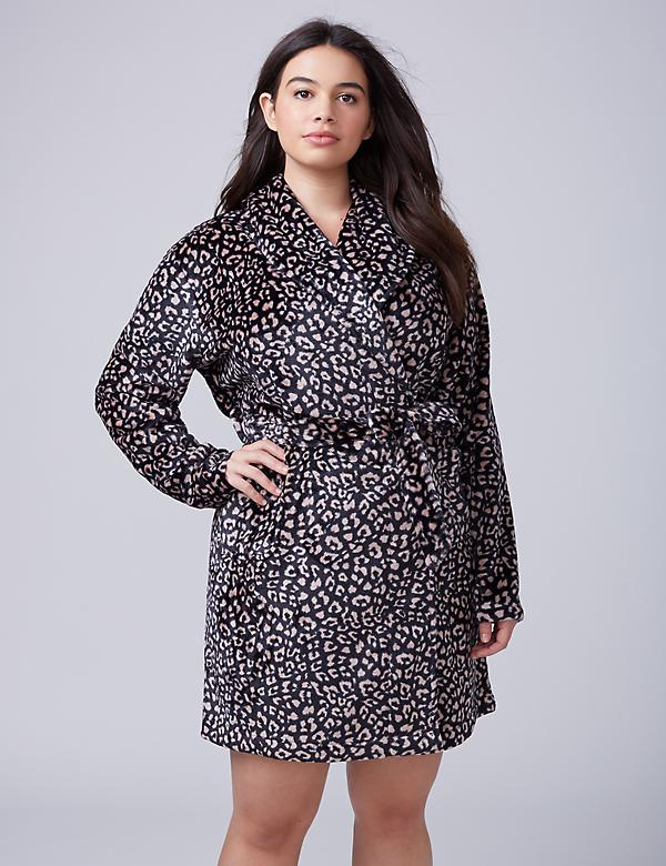 Printed Plush Robe