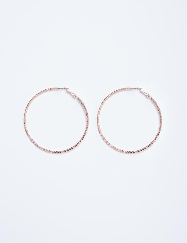 Large Cut Hoop Earrings
