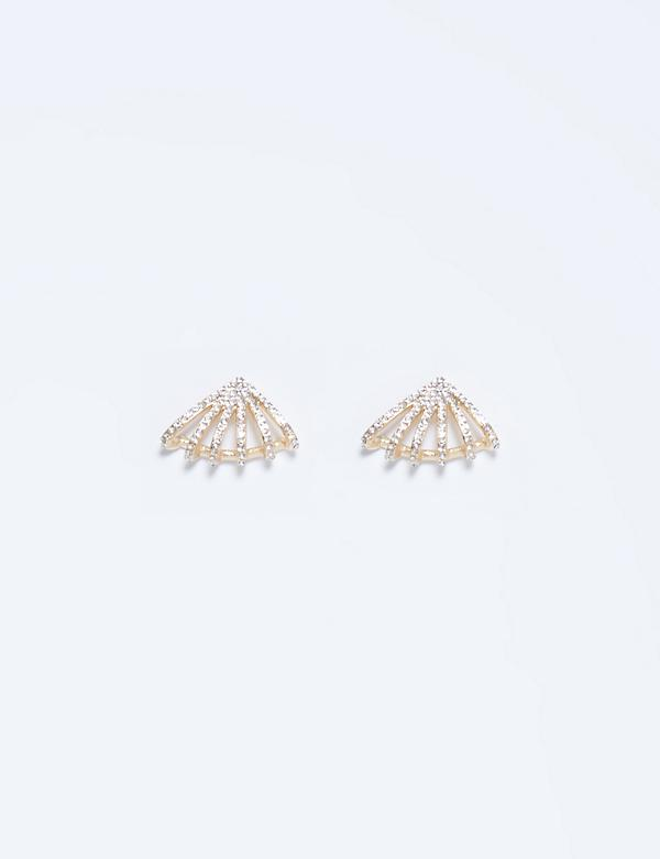 Caged CZ Cuff Earrings