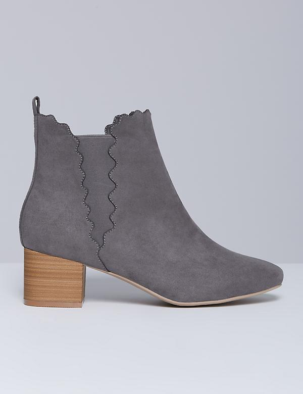 Scalloped Ankle Boot