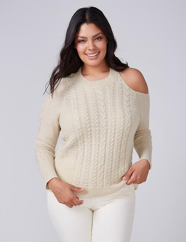 Fast Lane Cold-Shoulder Sweater
