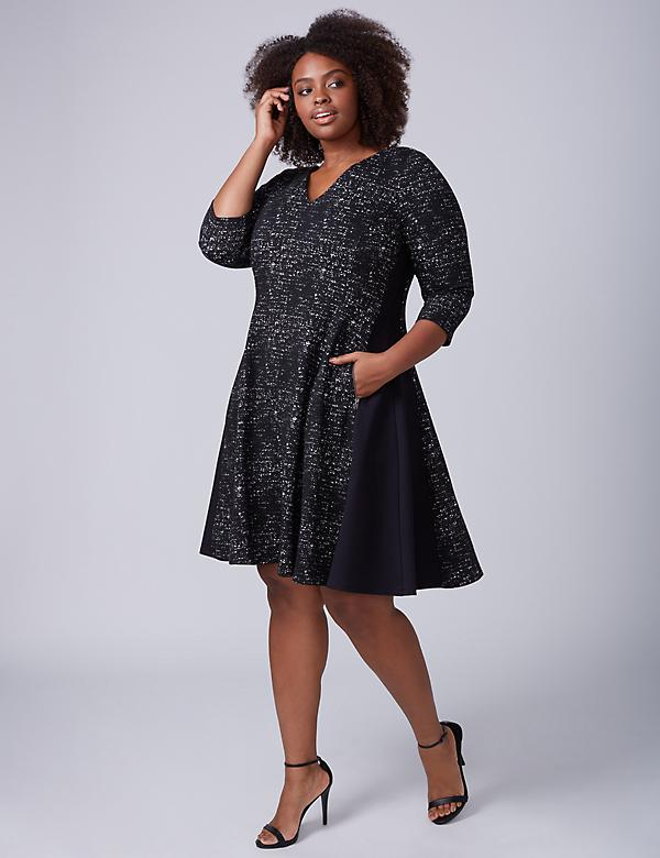 Jacquard Princess Fit & Flare Dress